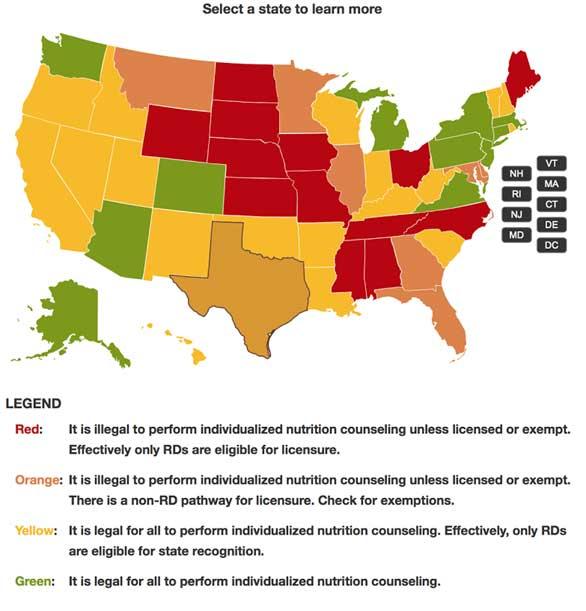 CNA Chart of US MAP